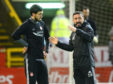 Anthony O'Connor and Aberdeen manager Derek McInnes.