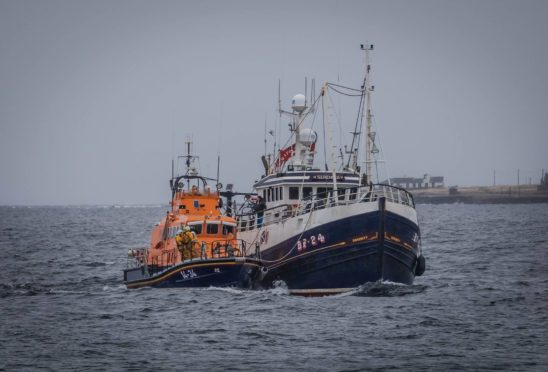 Fraserburgh lifeboat helps Serenity get back to port