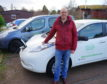 Gordon McAlpine with some of the Moray Carshare fleet