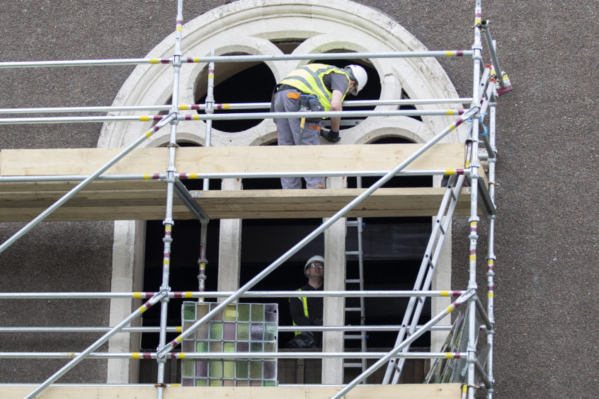 The first of the windows are now being removed and taken to Prestwick for restoration works