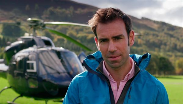 Jamie Crawford presents the TV series Scotland from the Sky.
