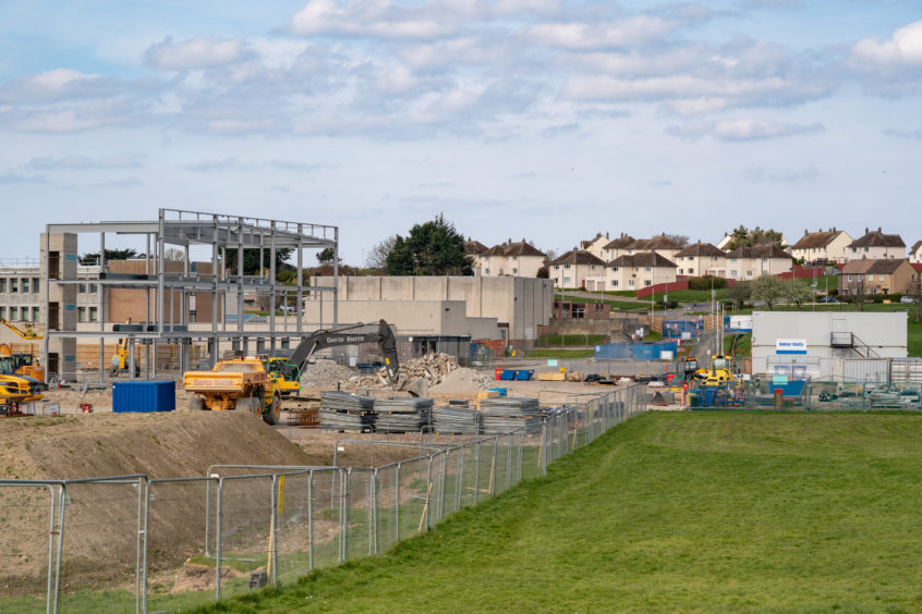 The construction site of Balfor Beattie at the New Lossiemouth High School. JASPERIMAGE