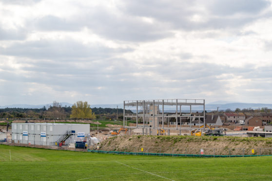 Progress for Lossiemouth High School is ahead of schedule Photographed by JASPERIMAGE ©