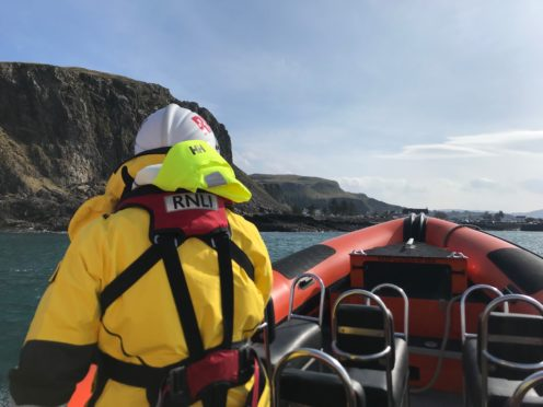 Oban lifeboat teams were called to help a diver with the bends.