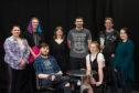 The cast L2R - Lea Niven-Smith, Kieran Allan, Lewis Creamer, Rebecca Finnie, Jack Williams, Ellen Shaw, Kenny McCallum (producer) Mariska Irvine.  Pictures - Jason Hedges