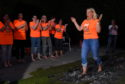 Firewalk in aid of Charlie House at Newmachar Hotel, Newmachar.  Picture by KENNY ELRICK     20/04/2019