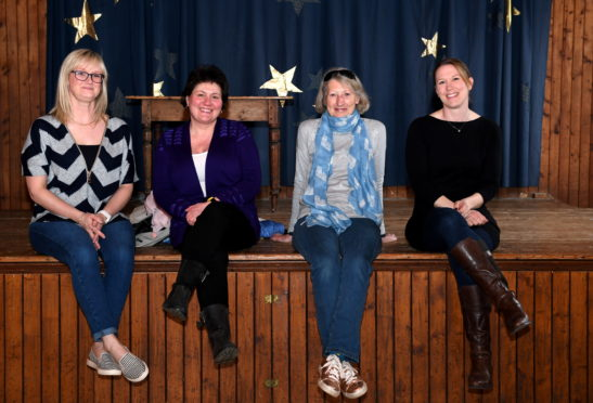 Committee members L-R Sandra Keir, Penny Fuller, Vicky Duke and Lyndsey Fraser, are hoping to breathe new life into Craigievar Hall.