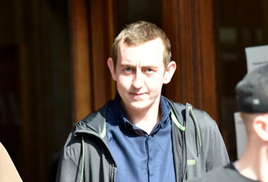 Scott Phillips leaving Aberdeen Sheriff Court.