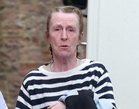 Beverley Mobsby pictured leaving Inverness Sheriff Court.