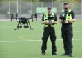 Police Scotland launch their Remotely Piloted Aircraft Systems in Inverness. (L-R) PC Russell Copp and PC Jamie Durkin.