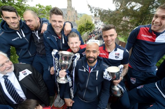 Ross County celebrated their winning of the Scottish Championship with a party in Victoria Park followed by an open top bus parade through Dingwall last weekend.