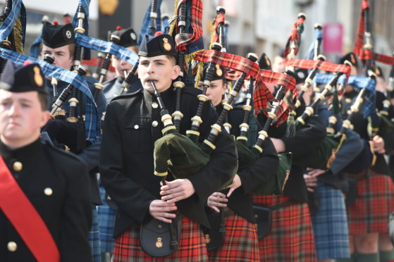 Cadets thrill Dingwall crowds with annual piping and drumming display