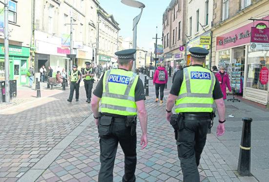 Inverness city centre policing team.