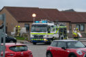 The scene at Redwell Court, Whitehills.