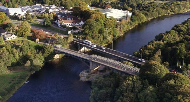 SGN has been working at the Fochabers bridge since February.