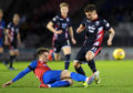 02/03/19 LADBROKES CHAMPIONSHIP INVERNESS CT V ROSS COUNTY TULLOCH CALEDONIAN STADIUM - INVERNESS Inverness' Brad McKay tackles Ross County's Daniel Armstrong