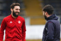 Aberdeen skipper Graeme Shinnie was spotted at Derby County yesterday.