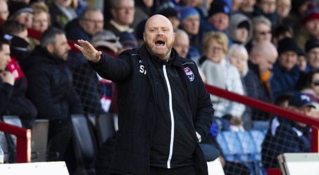 13/04/19 LADBROKES CHAMPIONSHIP ROSS COUNTY v PARTICK THISTLE GLOBAL ENERGY ARENA - DINGWALL Ross County co-manager Steven Ferguson issues instructions from the sidelines.