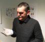 Scott Lindsay of Groam House Museum admiring the posy ring.