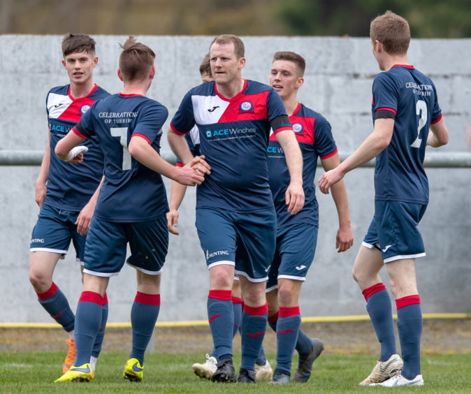 Centre of attraction 4 Turriff Ross Anderson on scoring the opener.