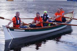 The 'Rowing the Minch' Crew: Kathryn Bennett, John Grant, Gary Lewis, Anthony O'Flaherty and Lorraine Thomson.