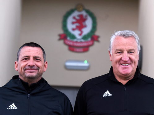 Cove assistant manager Graeme Mathieson (left) with boss John Sheran.