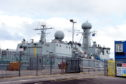 HMS ships at Aberdeen harbour.