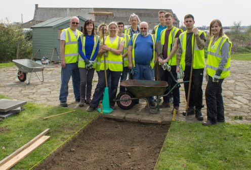 RAF Lossiemouth personnel and Greenfingers combined to create the new path