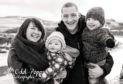 A family photo taken the day before PJ's cardiac arrest. From left to right: Siobhan Pirie, Merran, Steven, PJ.