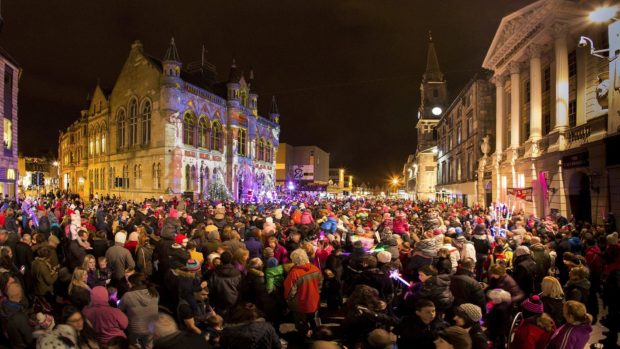 Christmas lights switch on in Inverness