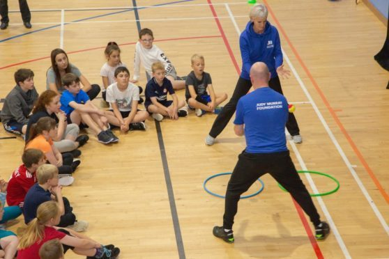 Judy Murray at Garioch Sports Centre last year