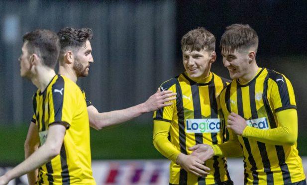 R Nairn 7 Max Ewan celebrates his Goal