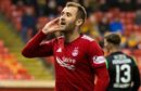 Aberdeen's Niall McGinn celebrates his goal.