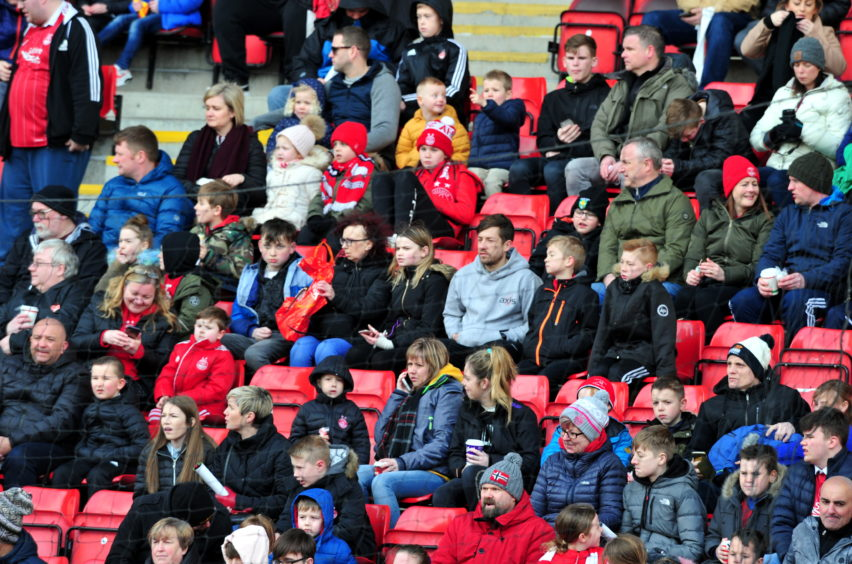 Fans in the stand