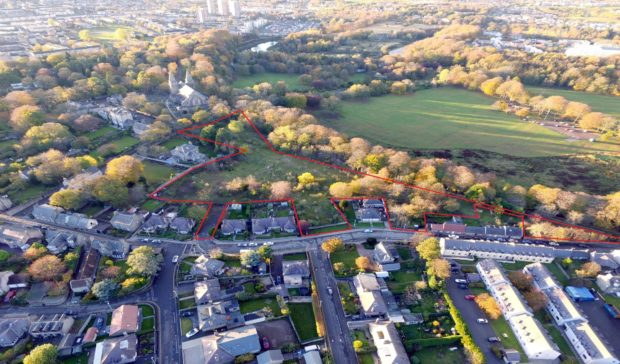 A four-acre site in Old Aberdeen has been placed on the market