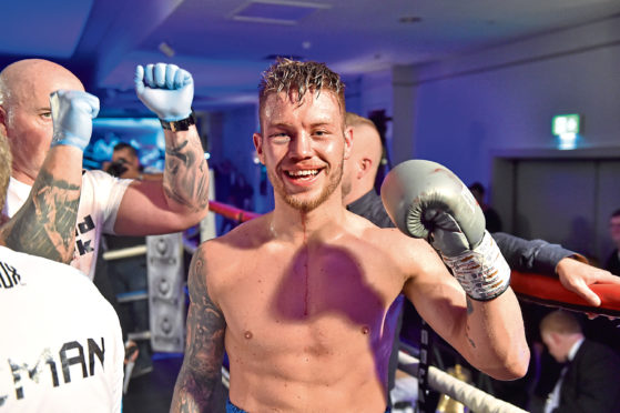 URN: CR0008828  Doubletree by Hilton, Aberdeen Treetops.  Pictured is Dean Sutherland, after winning his bout.   Picture by Scott Baxter    04/05/2019