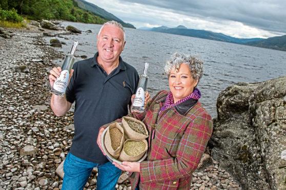 Loch Ness Absinthe Lorien Cameron-Ross, with husband Kevin, of Loch Ness Spirits