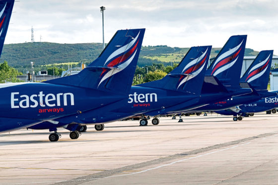 Eastern Airways' aircraft at Aberdeen International Airport
