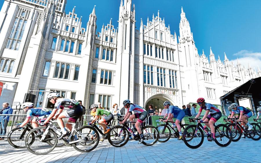 OVO Energy Tour Series - Round Three – Aberdeen Picture of Elite women's race.