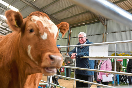 Rural Economy Secretary Fergus Ewing at the Scotland's Beef Event, North Bethelnie Farm, Oldmeldrum. Picture by Scott Baxter