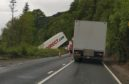 The SportsDirect branded lorry left the road at 8am but wasn't fully recovered until 4.10pm