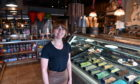 Vicky Ord assistant manager of Aunty Bettys ice cream shop