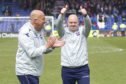 Neale Cooper with Steven Ferguson after a victory over Caley Thistle.
