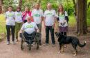 Walkers Rhiannon Davies, Derek Harper, Adam Mould, Sandra Brown, Matt Tobias, Vicky Flood, Tracey Bailey and Janet Limb are all taking part in the Big Lunch Community Walk around Scotland.