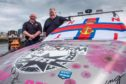 Fraserburgh lifeboat coxswain Vic Sutherland and Billy Campbell