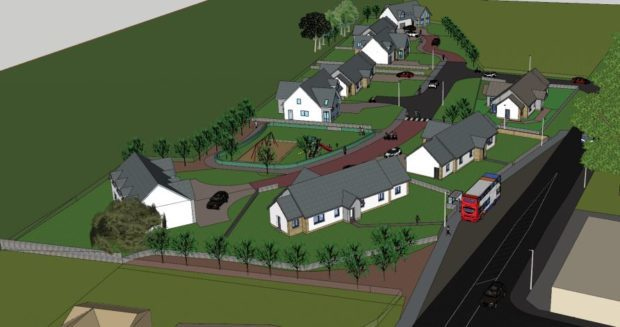 The plans for the housing development at the former railway yard have been rejected