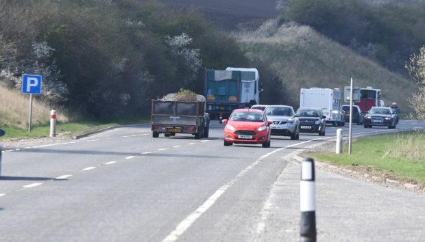 A96 between Inverness and Aberdeen.