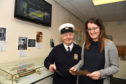 Former lighthouse keeper Bill Gault and Emily Scott at the new exhibition at the Museum of Scottish Lighthouses in Fraserburgh