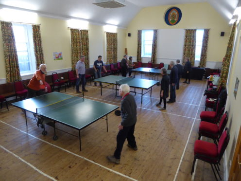 Cromarty Care Project are providing the drop-in table tennis sessions each Monday to allow members of the community come together