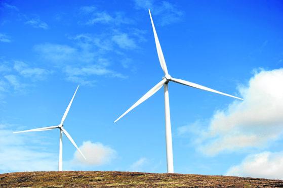 Lochluichart Wind Farm near Garve.